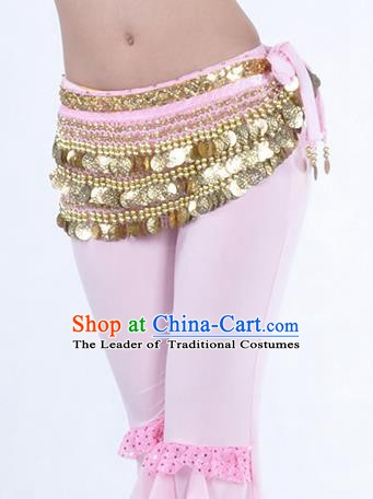 Pink Waistband Asian Indian Belly Dance Waist Accessories India National Dance Belts for Women