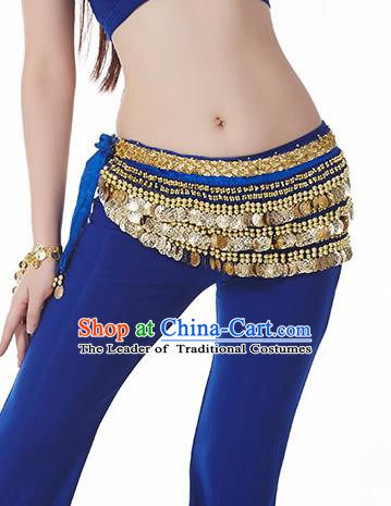 Royalblue Waistband Asian Indian Belly Dance Waist Accessories India National Dance Belts for Women