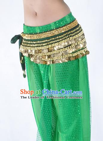 Green Waistband Asian Indian Belly Dance Waist Accessories India National Dance Belts for Women