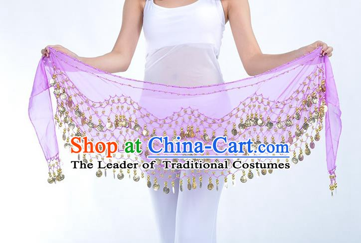 Asian Indian Belly Dance Lilac Silk Waistband Accessories India Raks Sharki Belts for Women