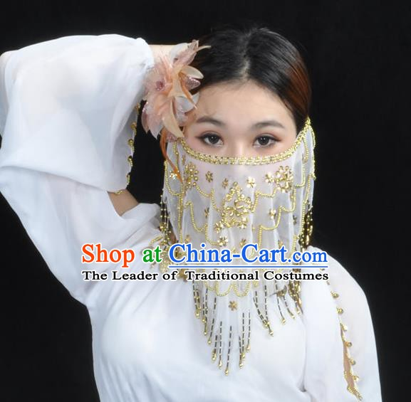 Asian Indian Belly Dance Veil India National Dance Mask Veil for Women