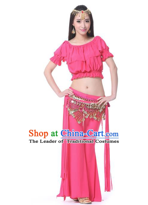 Indian Belly Dance Rosy Uniform India Raks Sharki Dress Oriental Dance Rosy Clothing for Women