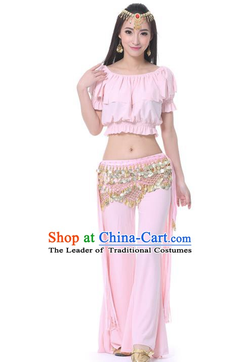 Indian Belly Dance Pink Uniform India Raks Sharki Dress Oriental Dance Rosy Clothing for Women
