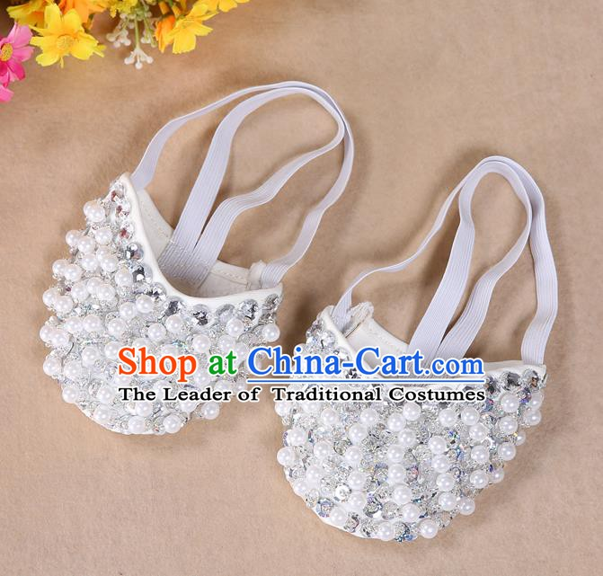 Asian Indian Belly Dance Shoes India Traditional Dance Beads Soft Shoes for for Women