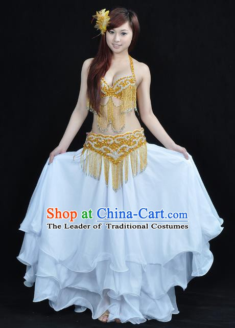 Indian Belly Dance White Costume India Raks Sharki Dress Oriental Dance Clothing for Women