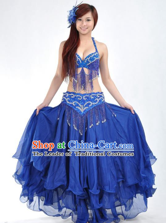 Indian Belly Dance Royalblue Costume India Raks Sharki Dress Oriental Dance Clothing for Women