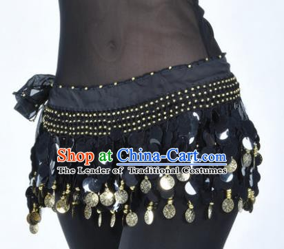 Indian Traditional Belly Dance Black Tassel Belts Waistband India Raks Sharki Waist Accessories for Women
