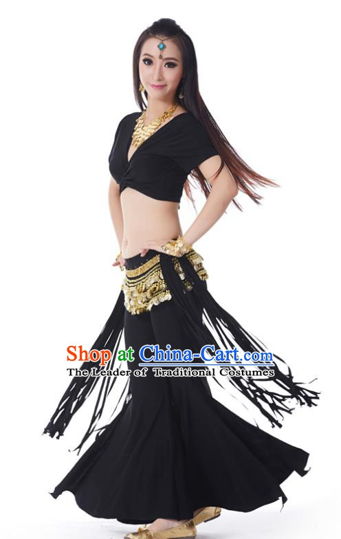 Indian Belly Dance Costume India Raks Sharki Black Uniform Oriental Dance Clothing for Women