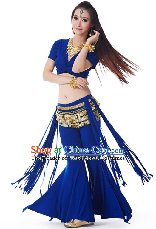 Indian Belly Dance Costume India Raks Sharki Royalblue Uniform Oriental Dance Clothing for Women