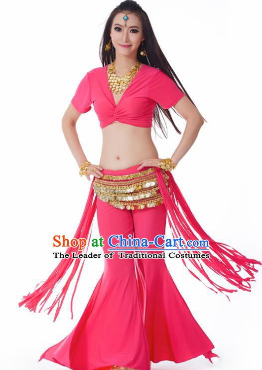Indian Belly Dance Costume India Raks Sharki Rosy Uniform Oriental Dance Clothing for Women