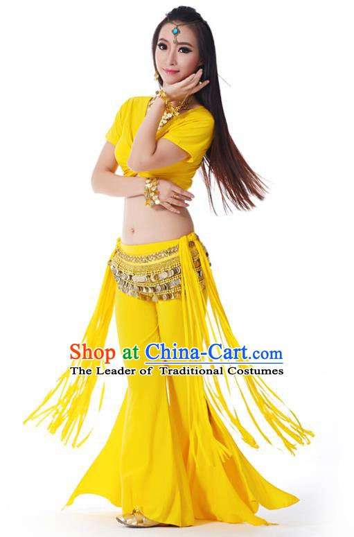 Indian Belly Dance Costume India Raks Sharki Yellow Uniform Oriental Dance Clothing for Women