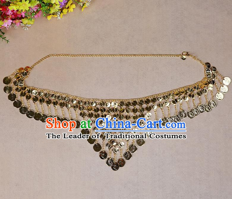 Asian Indian Belly Dance Waist Chain Tassel Waistband India Raks Sharki Belts for Women