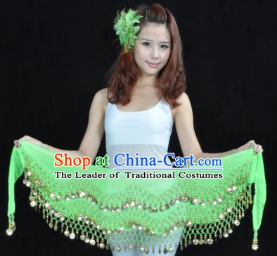 Asian Indian Belly Dance Waist Accessories Light Green Waistband India Raks Sharki Belts for Women