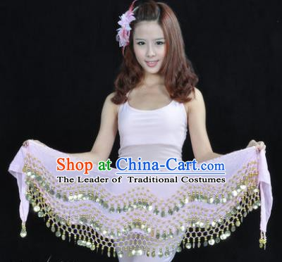Asian Indian Belly Dance Waist Accessories Pink Waistband India Raks Sharki Belts for Women