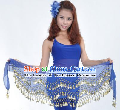 Asian Indian Belly Dance Waist Accessories Royalblue Waistband India Raks Sharki Belts for Women