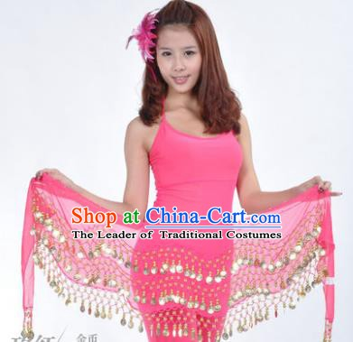 Asian Indian Belly Dance Waist Accessories Rosy Waistband India Raks Sharki Belts for Women