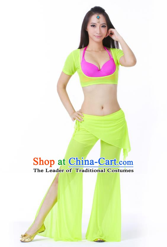 Asian Indian Belly Dance Light Green Uniform India Raks Sharki Dress Oriental Dance Clothing for Women