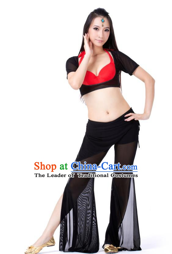 Asian Indian Belly Dance Black Uniform India Raks Sharki Dress Oriental Dance Clothing for Women
