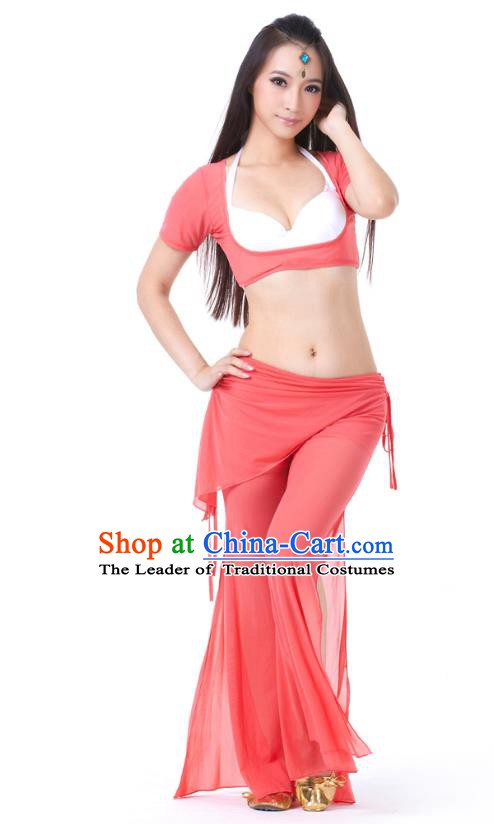 Asian Indian Belly Dance Watermelon Red Uniform India Raks Sharki Dress Oriental Dance Clothing for Women