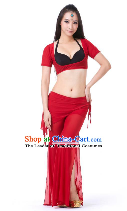 Asian Indian Belly Dance Wine Red Uniform India Raks Sharki Dress Oriental Dance Clothing for Women