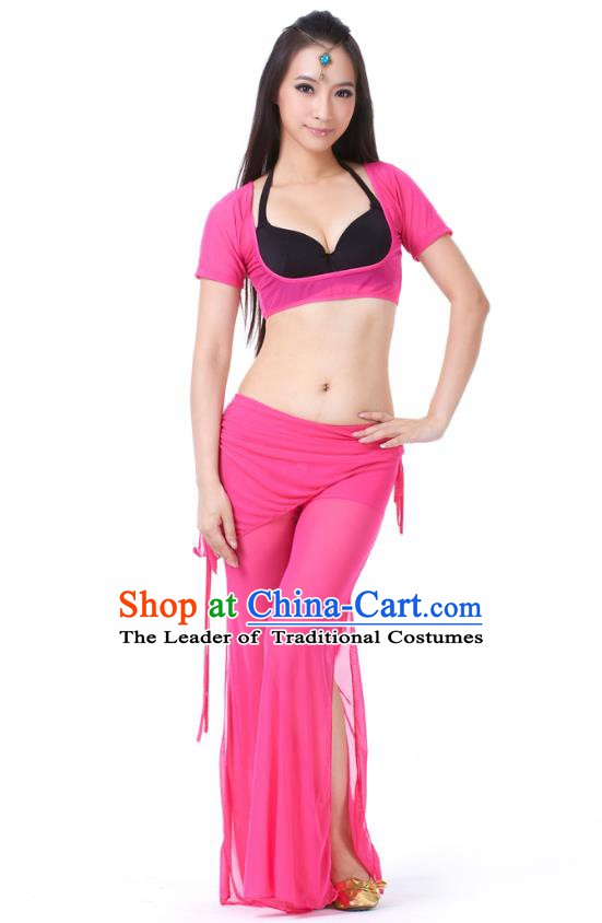 Asian Indian Belly Dance Rosy Uniform India Raks Sharki Dress Oriental Dance Clothing for Women