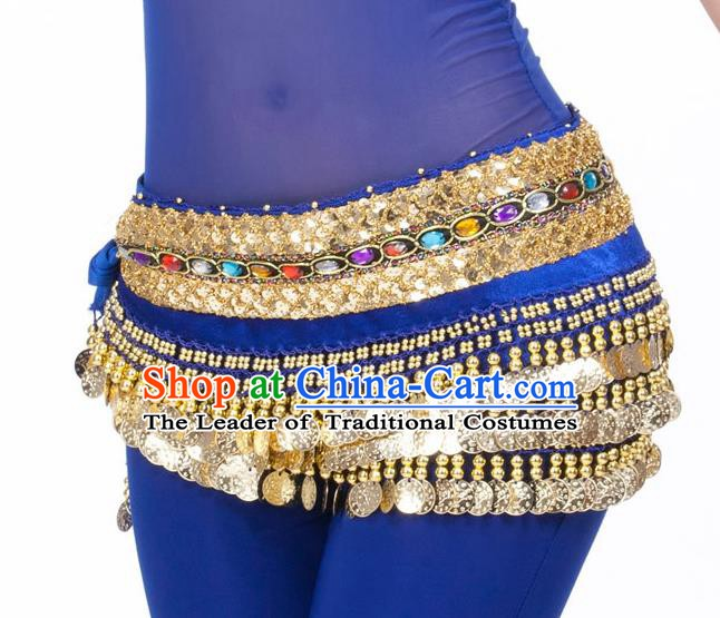 Asian Indian Belly Dance Diamante Waist Accessories Royalblue Waistband India Raks Sharki Belts for Women