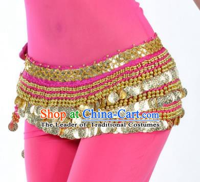 Asian Indian Traditional Belly Dance Rosy Waist Accessories Waistband India Raks Sharki Belts for Women