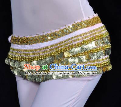 Asian Indian Traditional Belly Dance Pink Waist Accessories Waistband India Raks Sharki Belts for Women