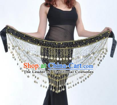 Asian Indian Traditional Belly Dance Tassel Waistband India Raks Sharki Belts for Women