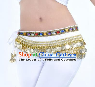 Asian Indian Traditional Belly Dance White Belts Waistband India Raks Sharki Waist Accessories for Women