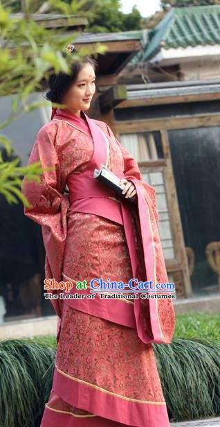 China Ancient Hanfu Costume Chinese Han Dynasty Palace Princess Dress Clothing for Women