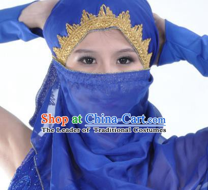 Asian Indian Belly Dance Accessories Yashmak India Traditional Dance Royalblue Veil for for Women