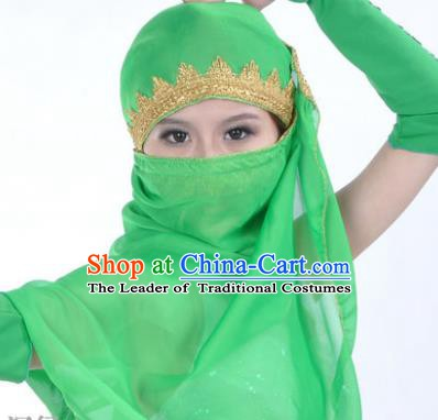 Asian Indian Belly Dance Accessories Yashmak India Traditional Dance Green Veil for for Women