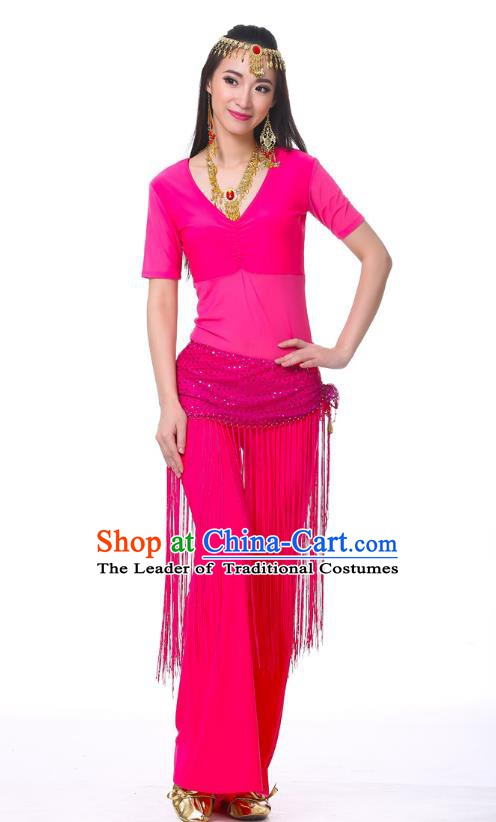 Indian Belly Dance Costume India Raks Sharki Rosy Suits Oriental Dance Clothing for Women