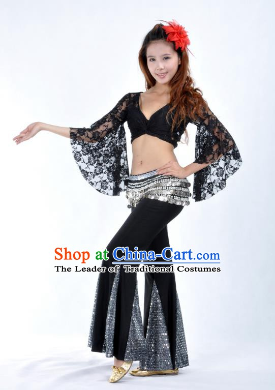 Indian Belly Dance Lace Costume India Raks Sharki Suits Oriental Dance Clothing for Women