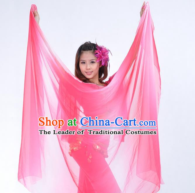 Asian Indian Belly Dance Accessories Pink Gauze Kerchief India Traditional Dance Scarf for for Women