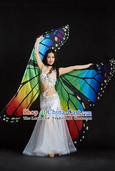 Indian Bollywood Belly Dance Props Asian India Oriental Dance Butterfly Wing for Women