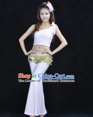 Asian Indian Belly Dance Costume India Oriental Dance White Suits for Women