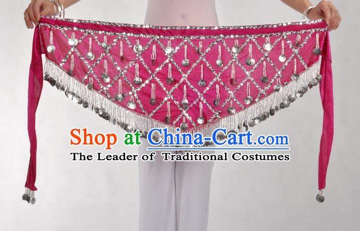 Indian Belly Dance Rosy Belts Waistband India Raks Sharki Waist Accessories for Women