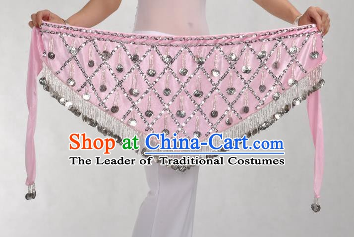 Indian Belly Dance Pink Belts Waistband India Raks Sharki Waist Accessories for Women