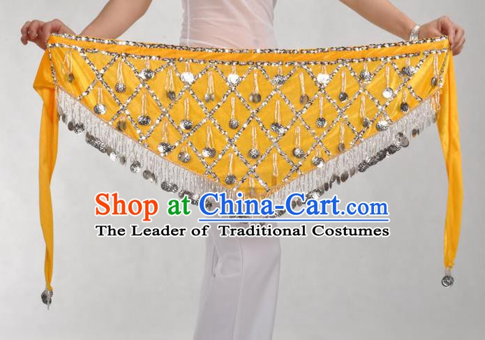 Indian Belly Dance Yellow Belts Waistband India Raks Sharki Waist Accessories for Women
