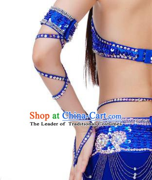 Indian Belly Dance Royalblue Sleevelet India Raks Sharki Accessories Wristlet for Women