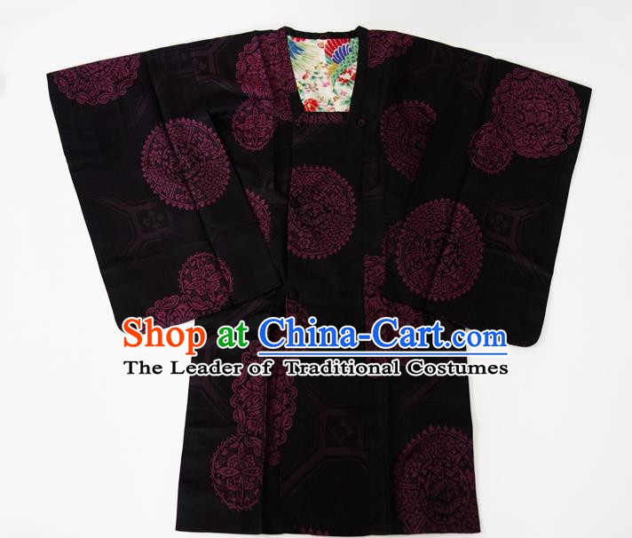 Asian Japanese Traditional Costumes Japan Kimono Silk Bathrobe Clothing for Women