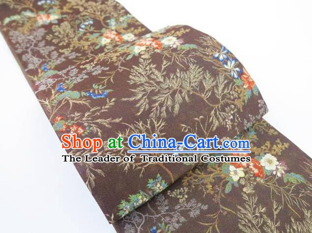 Asian Japanese Traditional Japan Kimono Silk Belts Waistband for Women