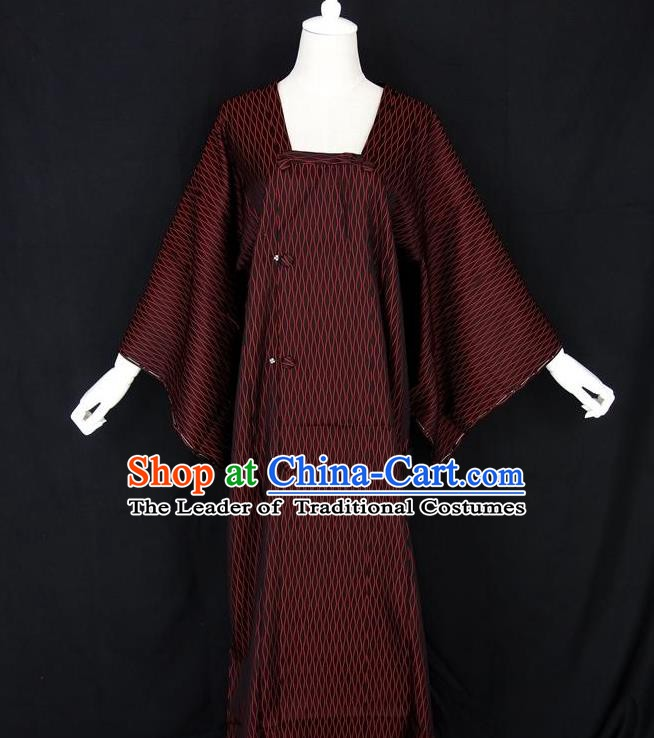 Asian Japanese Traditional Costumes Japan Kimono Bathrobe Clothing for Women