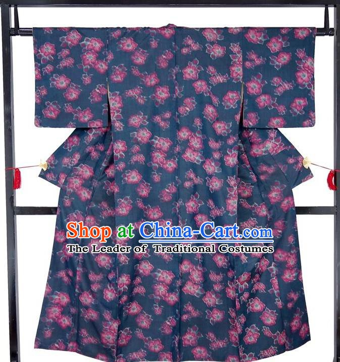Asian Japanese Traditional Costumes Japan Kimono Yukata Printing Bathrobe Clothing for Women