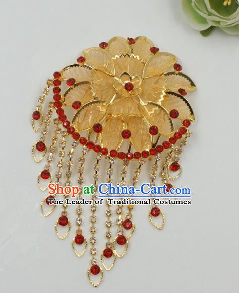 Chinese Handmade Classical Hair Accessories Ancient Hanfu Tassel Hair Comb Hairpins for Women