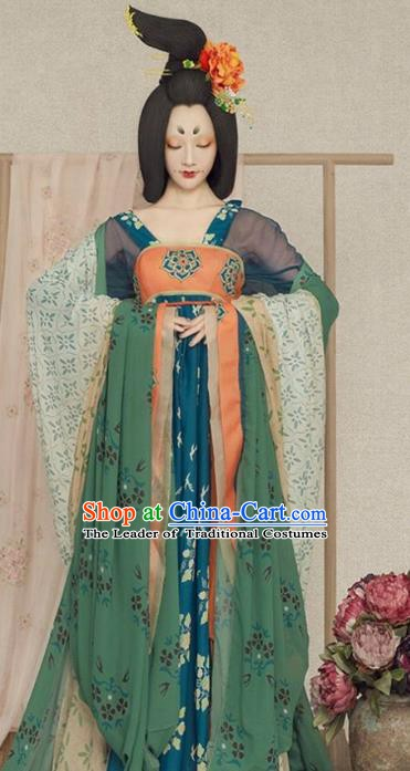 Chinese Traditional Tang Dynasty Imperial Concubine Costumes, China Ancient Palace Lady Dance Dress for Women