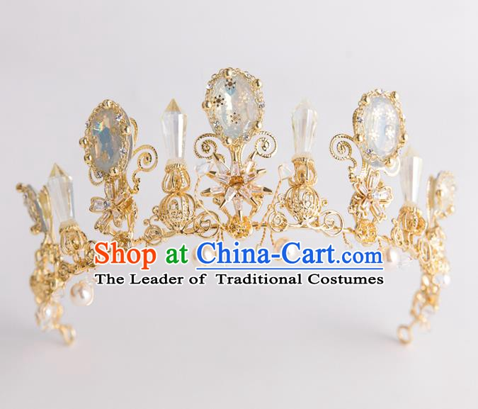 Handmade Classical Wedding Hair Accessories Bride Baroque Royal Crown Hair Coronet for Women