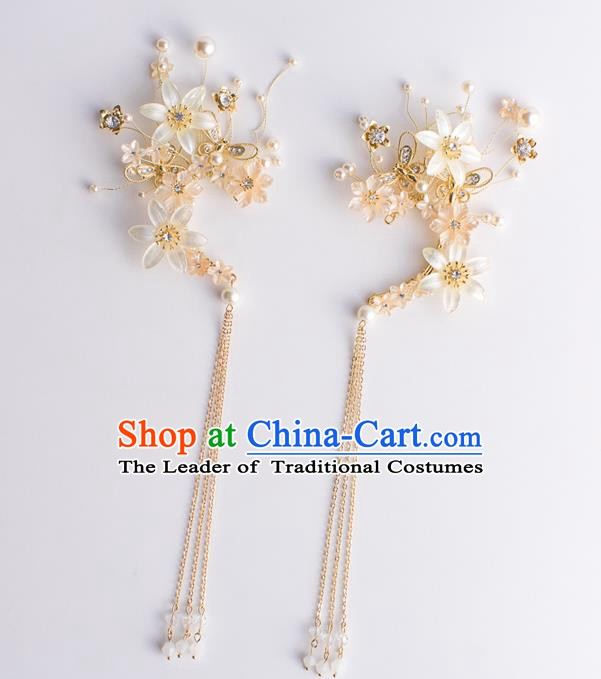 Handmade Classical Wedding Accessories Bride Tassel Earrings Headwear for Women
